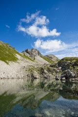 Der Koblatsee in den Allgaeuer Alpen