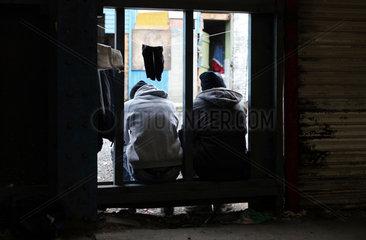 Fluechtlinge in Calais: somalische Fluechtlinge
