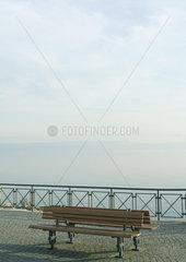 Bench overlooking lake