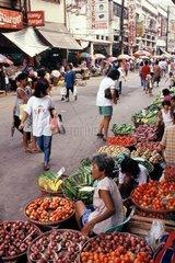 Street market in Manila  Philippines