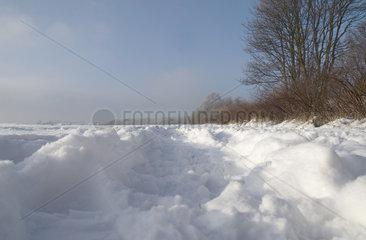 Winterlandschaft bei Dortmund
