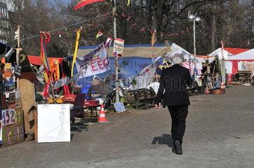 Protestcamp der Occupy-Bewegung vor EZB in Frankfurt