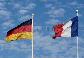 Flaggen Deutschland und Frankreich