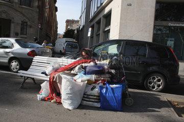 Obdachlose in Barcelona