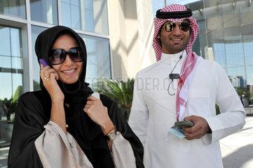 Ehepaar in Riad