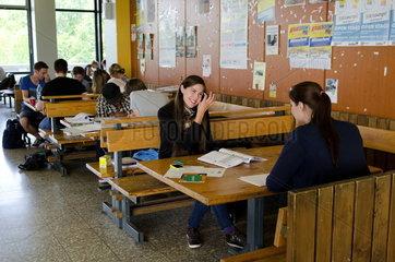Studenten an der Ruhr-Universtaet Bochum