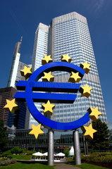 Die Europ__ische Zentralbank in Frankfurt am Main