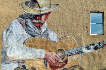 USA  Denver: Fassade mit Cowboybild