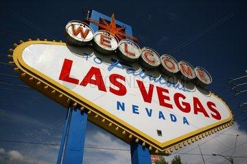 Beguessungsschild von Las Vegas