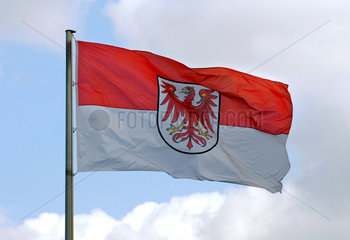 Berlin  Flagge des Landes Brandenburg