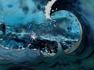 Wasser Sturmflut Wellen