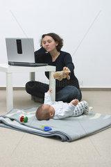 Berufstaetige Mutter