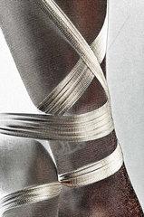 Umwickeltes Bein