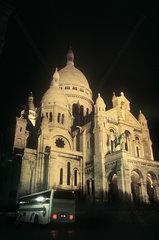 France  Paris  Montmartre  Sacre Coeur at night