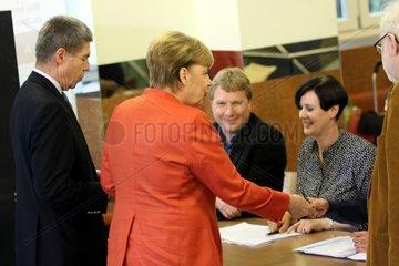 Angela Merkel bei der Stimmabgabe am 24.09.2017