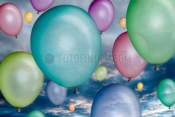 Berlin  bunte Luftballons