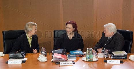 Dr. Annette Schavan  Heidemarie Wieczorek-Zeul und Dr. Frank-Walter Steinmeier