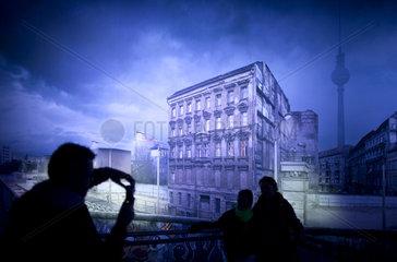Mauerpanorama Berliner Mauer