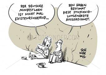 Studie zum Mindestlohn : 9 19 Euro in Deutschland nicht existenzsichernd