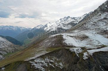 Gebirgslandschaft Pyrenaeen  am Col de Tourmalet