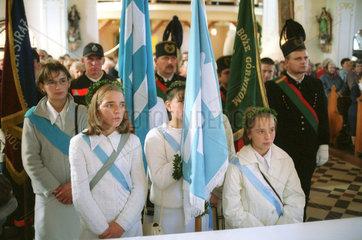 kirchlicher Feiertag im oberschlesischen Kotulin  Polen