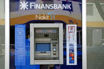 Finansbank-Geldautomat in der Tuerkei