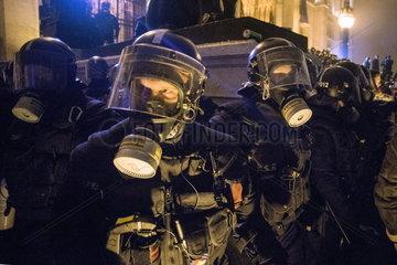 Demonstration gegen das neue Arbeitszeitgesetz in Ungarn