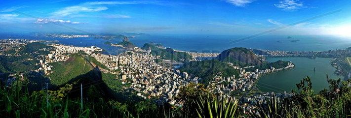 Die Skyline von Rio de Janeiro  Brasilien