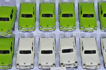 Trabbi Modellautos als nostalgische Reiseandenken