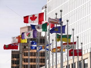 Flaggen von Kanada und den Provinzen