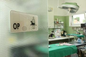 Operationsraum einer Tierarztpraxis