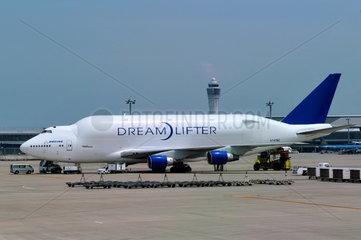 Boing Dreamlifter auf dem Flughafen Chubu  Japan