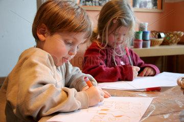 Malen und Schreiben im Kindergarten
