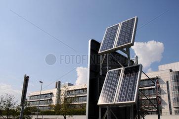 Solarmodule am Flughafen Muenchen