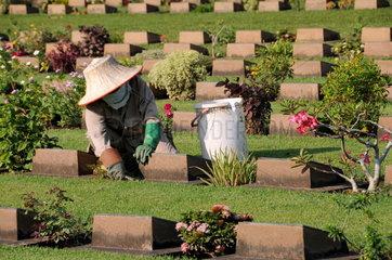 Soldatenfriedhof in Kanchanaburi