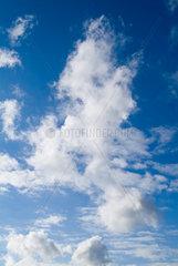 Hamburg  Deutschland  Wolken am Himmel