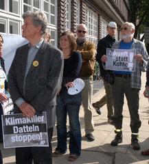 Demonstration gegen das Kohlekraftwerk Datteln