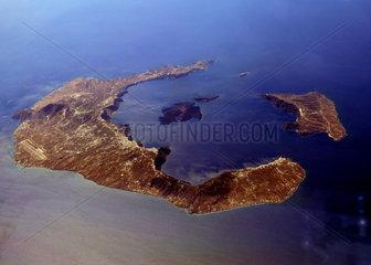 Luftaufnahme von Santorin