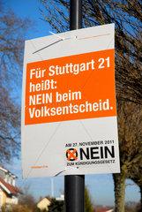 Volksentscheid Stuttgart 21