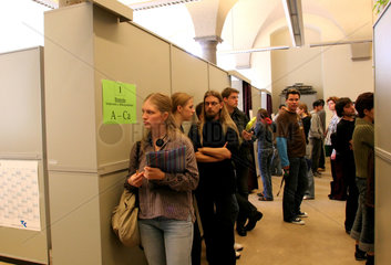 Semesterbeginn. Immatrikulation an der Uni Bonn