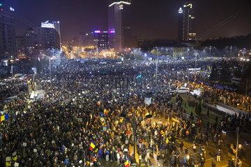 Massenproteste in Rumaenien