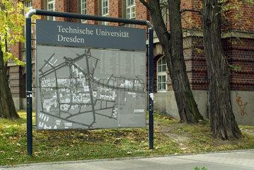Lageplan der TU Dresden