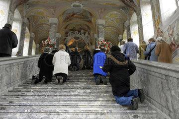 Karfreitagsgebet auf der Heiligen Stiege
