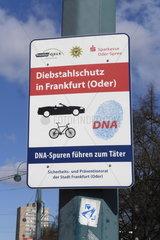 Diebstahlschutz durch DNA-Markierung in Frankfurt (Oder)