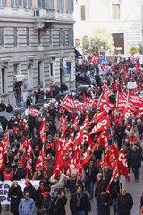 CGIL Generalstreik in Rom