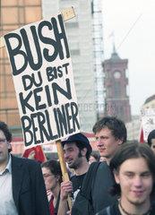 Bush Demo in Berlin