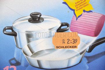 Preisschild der insolventen Drogeriemarkt-Kette Schlecker