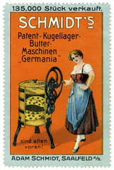Buttermaschine  Reklamemarke  1913