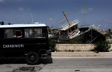 Der Schiffsfriedhof von Lampedusa