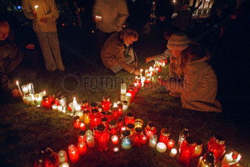 Messe fuer den verstorbenen Papst in Polen